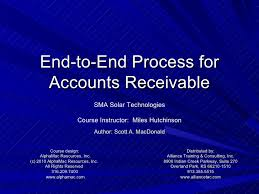 Account Receivable Process Flow Chart Ppt End To End Accounts Receivable Process