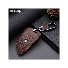 akey new brown leather key case for bmw x5 x6 2016 2016 2016 f15 2 3 ons smart key leather shell bag holder accessoires color name for bmw 2 on