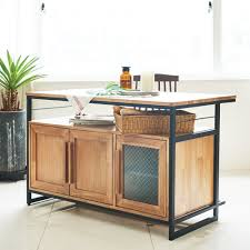 Industrial Kitchen Furniture Tinwood Industrial Kitchen Island Dining Table Cum Cabinet