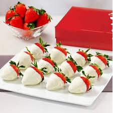 white chocolate covered strawberry box