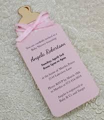 diy baby shower invitations diy bottle ba shower invitation template for ba girl from template