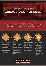how to program a garage door opener in