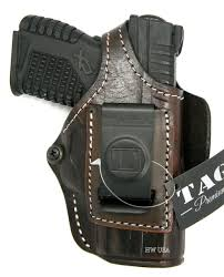 tagua premium brown leather 4 in 1 owb iwb holster for springfield xds 3 3