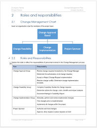 Change Management Plan Template Ms Word Excel Spreadsheets