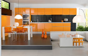 Bright Kitchen Color Beautiful Bright Orange Paint Color For Your Interior Room Pizzafino