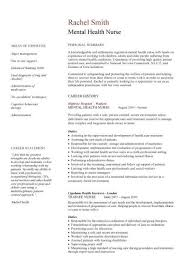Carer CV, Mental Health Nurse CV