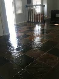after sealing a slate floor