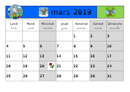 calendrier excell calendrier mars 2019 excel