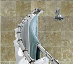 awe inspiring double curved shower curtain rod best of rods bronze adjule delta venetian crafty interior