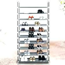 slanted shoe shelves with fence angled dimensions
