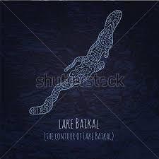 Постер Контур озера Байкал в doodle стиле x в интерьере  Постер Контур озера Байкал в doodle стиле реферат география bol shie
