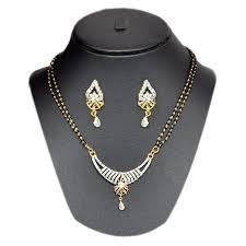 pourni american diamond mangalsutra sm180