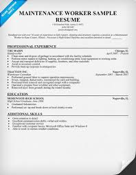 Maintenance Worker Resume Sample (resumecompanion.com)