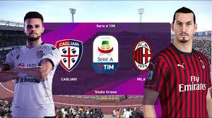 Cagliari x Milan - Campeonato Italiano (11/01/2020) [PES 2020] GamePlay +  Narração
