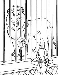 Zoo Lion Coloring Page For Kids