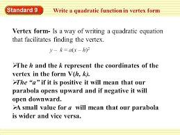 quadratic functions in vertex form activity builder by desmos