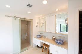 frameless dorma manet sliding barn door at shower in bathroom sliding barn doors residential