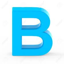Light Blue B Light Blue Letter B 3d Rendering Graphic Isolated White Background