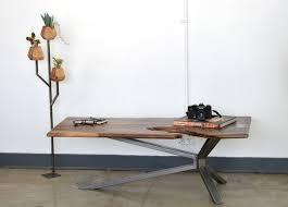 metal coffee table legs luxury live edge walnut coffee table w steel cantilever