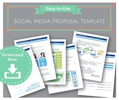 Social Media Proposal Template Easy To Use Social Media Proposal Template To Win Clients