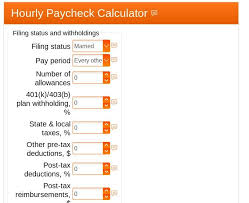 Texas Payroll Calculator Hourly Hourly Paycheck Calculator Estimate Hourly Wages