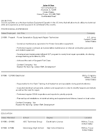 Military Resume Examples E Military Experience On Resume Cute Resume