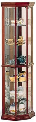 Glass Curio Cabinets With Lights Coaster Curio Cabinets Solid Wood Cherry Glass Corner Curio