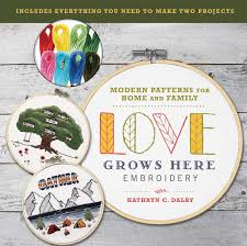 Doodle Stitching The Motif Collection 400 Easy Embroidery Designs Love Grows Here Embroidery Modern Patterns For Home And