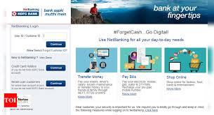 It will be at the discretion of hdfc bank to reject any payment made above the outstanding on your card. Hdfc Netbanking How To Activate Use Hdfc Bank Internet Banking Services Business Times Of India