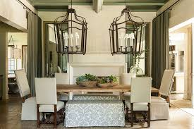 farmhouse dining room ideas. Oversized Lighting Fixtures In The Dining Room [Design: McAlpine Tankersley Architecture] Farmhouse Ideas G
