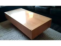 glass top coffee table and storage end tables for with drawers ikea desk love gl