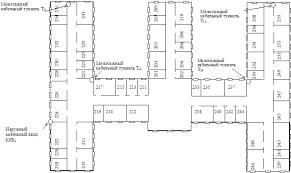 Курсовая работа Проектирование локальной вычислительной сети  Рис 3 План 2 этажа здания №2