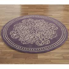 vintage lace round rug dusty purple 5 round