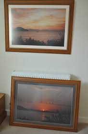 2x large quality picture frames with non reflective glass