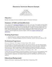 Gallery of sample resume electronics technician