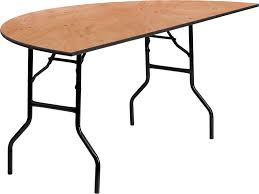 72 half round wood folding banquet table yt whrft72 hf