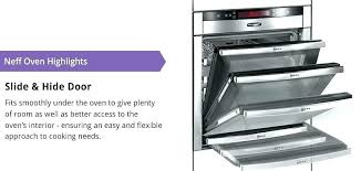 oven with slide and hide door amazing ovens away sliding gns home interior 1 removal built