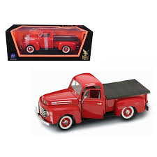 1948 Ford F1 Pickup Truck Red 1/18 Diecast Model Car by Road ...