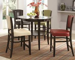 decorating gorgeous modern counter height dining table 37 top round kitchen tables chairs home design