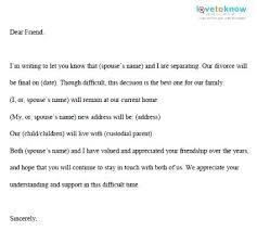 Divorce Notice Format Fascinating Sample Divorce Letter To Husband Inviletterco