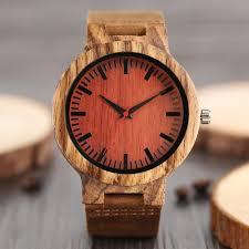 wood watch mens wrisch genuine leather watch strap minimalist design dial wooden for men women best gifts with box watches skeleton watch from
