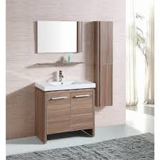 Modern single sink bathroom vanities Left Side Belvedere Modern Light Oak Single Sink Bathroom Vanity Overstock Shop Belvedere Modern Light Oak Single Sink Bathroom Vanity Free