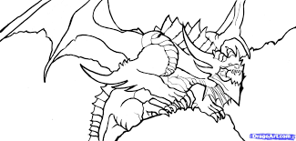 Flying Dragon Coloring Pages Printable Flying Printable