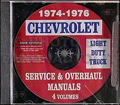 1976 chevy gmc g van wiring diagram original 1974 1976 chevrolet pickup blazer van suburban repair shop manual cd rom