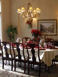 Christmas Table Setting Ideas With White Dining Chairs Also Green Rustic  Decor Yellow Olympus Digital Camera Dining Room ...