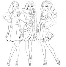 Small Picture Barbie Girl Coloring Pages Nice Coloring Pages For Kids Fashion