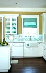 kitchen blue glass backsplash. Blue Kitchen Backsplash Teal With Shimmer Turquoise So Pretty  Except That Awful Paint Color On Subway White Glass Kitchen Blue Glass Backsplash