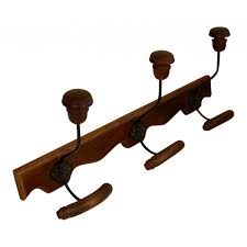 Antique Coat And Hat Rack Wall mounted Wooden coat and hat rack 100 hooks French vintage 43
