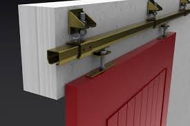 image of painted sliding cabinet door track