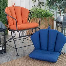 wrought iron barrel chair cushions